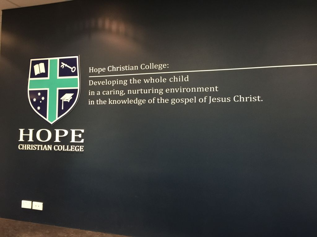 College reception wall (3D262)