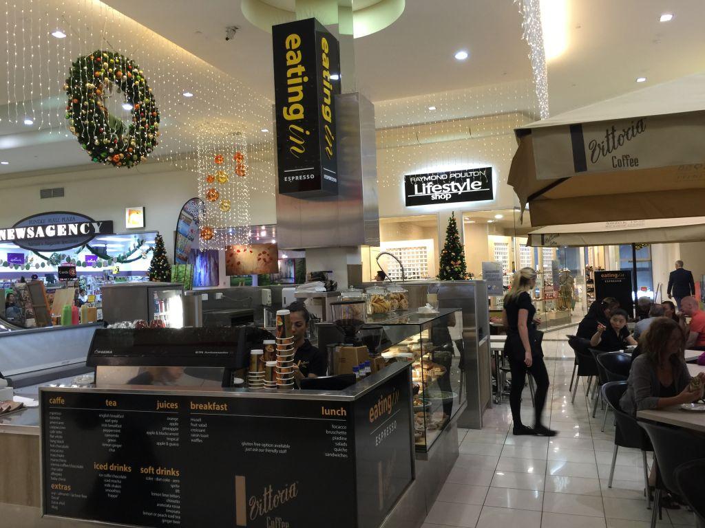 Cafe 3d column sign (3D245)