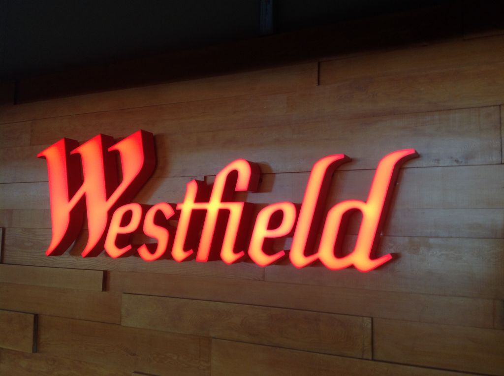 3D internally illuminated letters fixed to timber wall (3D213)