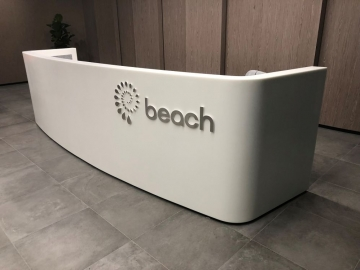 Stainless steel front counter letters (3D359)