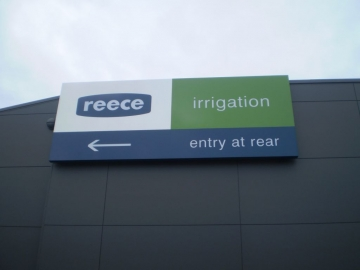 Internally Illuminated Wall Sign with Intra Cut Letters (BS176)