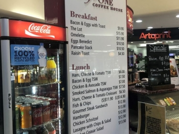 Counter top cafe menu (FS385)