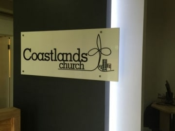 3d acrylic reception sign with LED illumination (FS237)