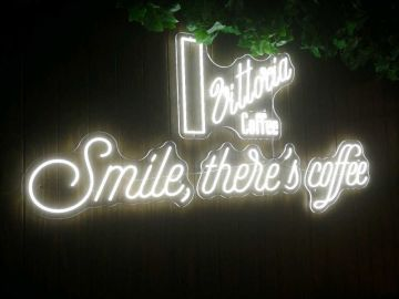 Smile-there's coffee neon flex  (IS568)