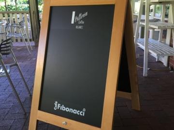 Custom made timber A frame with blackboard (OS260)
