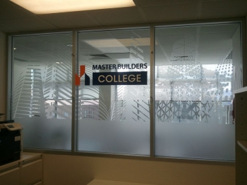Frosted window etch with 3d signage (OS284)