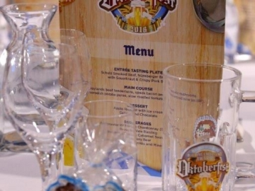 Printed logo to beer glass (OS277)