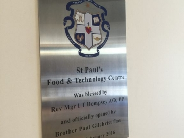 Stainless Steel Plaque engraved with paint infill (OS281)
