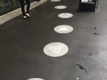Pedestrian footpath graphics (OT234)