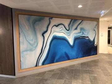 Textured vinyl  printed mural (PG343)