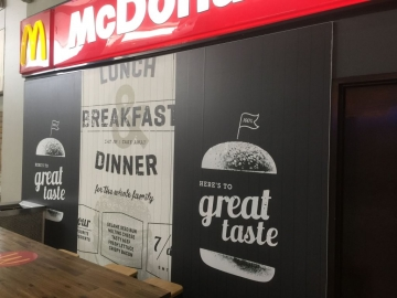 McDondals Entry graphics and moulded sign (PG288)