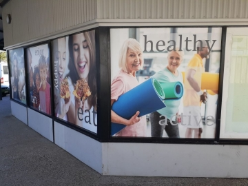 Shopping Centre window graphics (PG443)