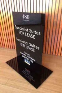 Melbourne 3D Solid Acrylic Floor Sign Designer