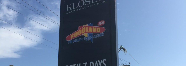 Supermarket sign design Adelaide