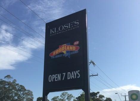 Adelaide Supermarket Sign Design