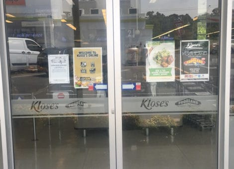 Adelaide Glass Door Signs
