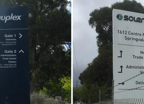 rebrand pylon sign melbourne