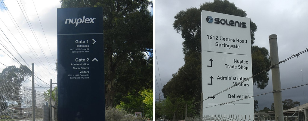 rebrand pylon sign melbourne