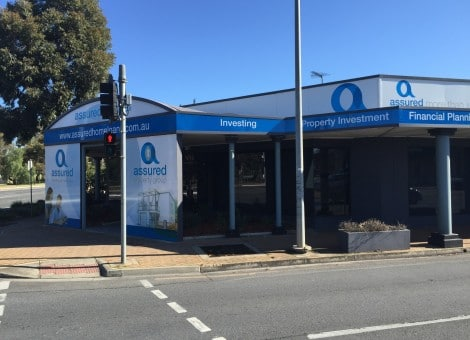 Assured Homeloans building signage Adelaide