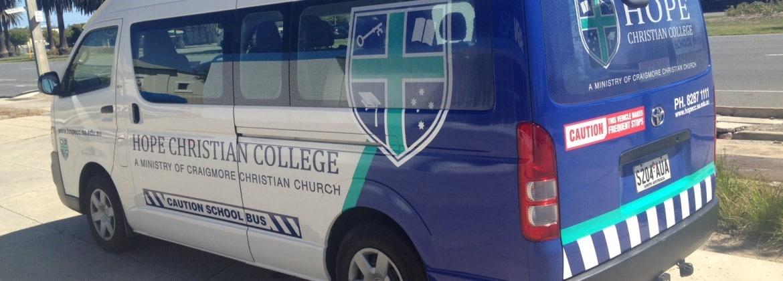 Vehicle graphics, school bus Adelaide