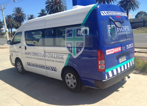 Vehicle graphics, school bus Adelaide