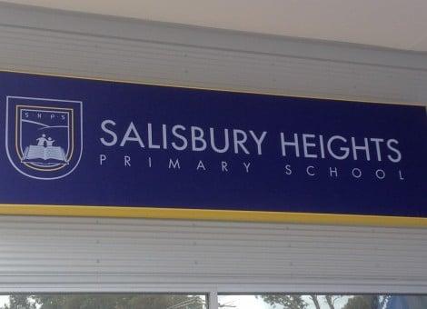 School signage, Salisbury Heights